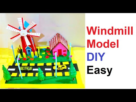 How to Make a Windmill for a School Science Project - DIY