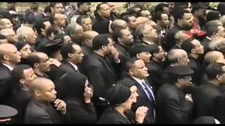 The Final Moments Of Pm Meles Zenawi's Burial at Kidist Silasse Cathedral Church