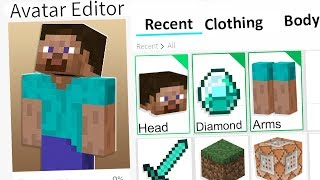 MAKING MINECRAFT STEVE A ROBLOX ACCOUNT!!