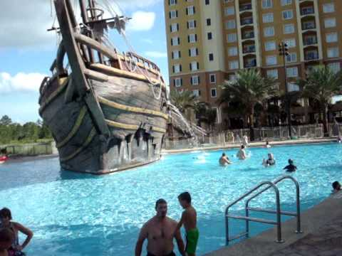 Pirate Ship Water Slide At Lake Buena Vista Suites Orlando