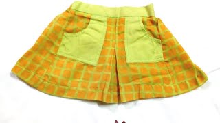 Baby skirt making with unused clothes