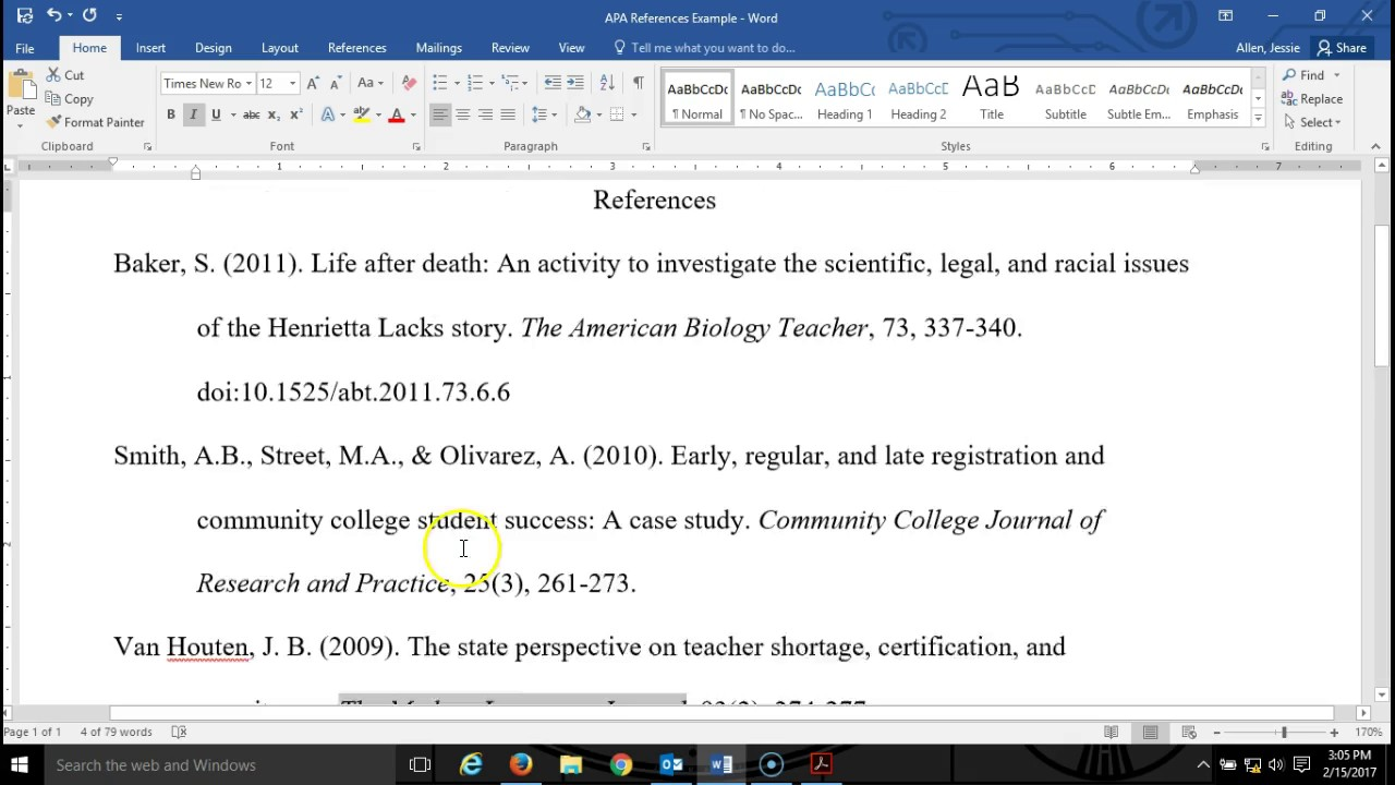 how to format references in apa Citation machine helps students and professionals properly credit the information that they use cite your website in apa format for free.