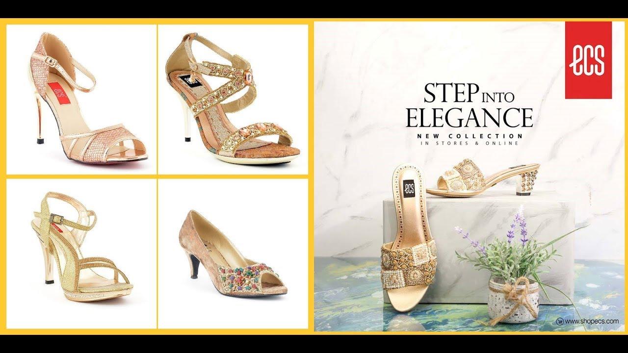 3f35b1e6 ECS Shoes Bridal Formal Heel Footwear Collection 2018-19 - YouTube