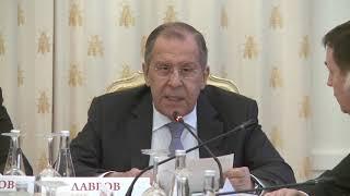 С.Лавров на заседании Наблюдательного и Попечительского советов МГИМО