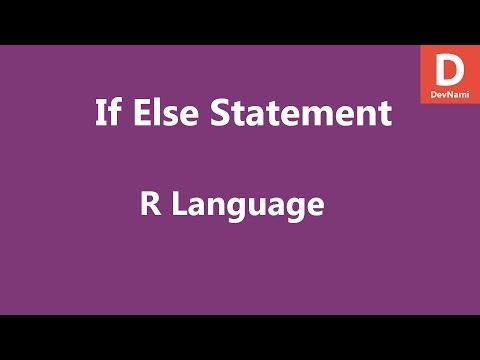 R Programming if else statement