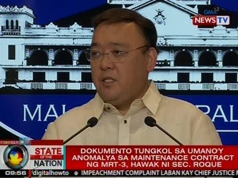 SONA: Roque, may dokumento tungkol sa umano'y anomalya sa MRT3 maintenance contract