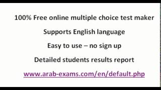 free online multiple choice test maker