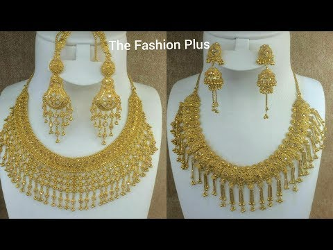 Bridal gold necklace and Earring |Necklace set Designs