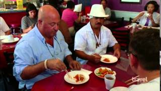 Bizarre Foods Andrew Zimmern easts at Spices,the best Szechuan Chinese Restaurant in San Francisco