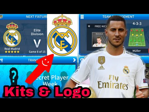 Create Real Madrid Team• Kit Logo 2019-20•Dream League Soccer 2019.