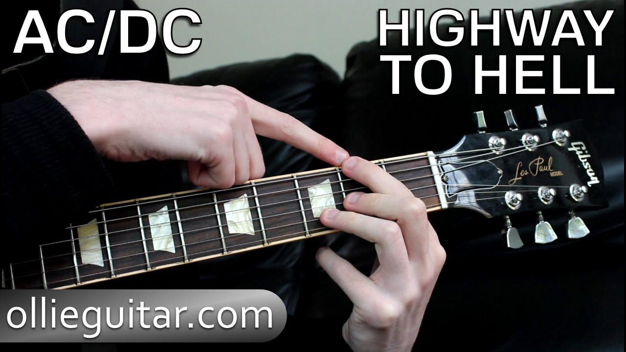 how to play 39 highway to hell 39 ac dc on guitar ollieguitar youtube. Black Bedroom Furniture Sets. Home Design Ideas