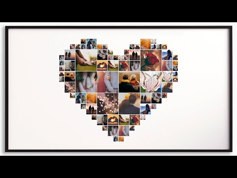 Create Heart Shaped Collage easily with Shape Collage Maker Phinsh