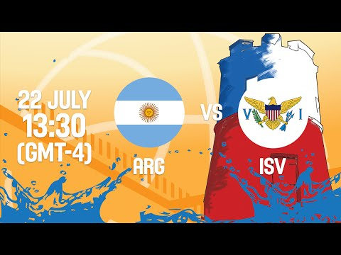 Argentina v ISV - Full Game - Reclassification - 2016 FIBA Americas U18 Men