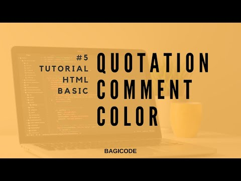 5. Quotation , comment, color - Tutorial Basic HTML thumbnail