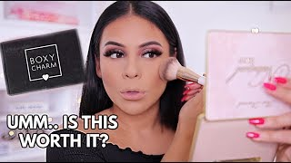 BOXYCHARM SEPTEMBER 2019 UNBOXING / TRY ON MAKEUP TUTORIAL + FIRST IMPRESSIONS!   JuicyJas