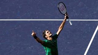 BNP Paribas Open 2017: Roger Federer vs. Stan Wawrinka   Highlights