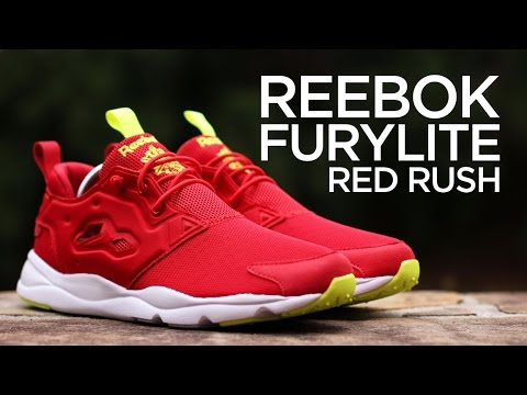 c5e1c19e4bc2 Closer Look  Reebok FuryLite - Red Rush - YouTube
