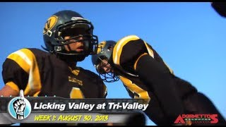 HS Football: Licking Valley at Tri-Valley (8/30/13)
