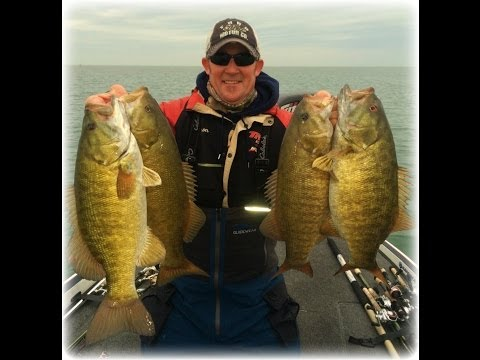 Lake St. Clair FALL Smallmouth Bass Fishing