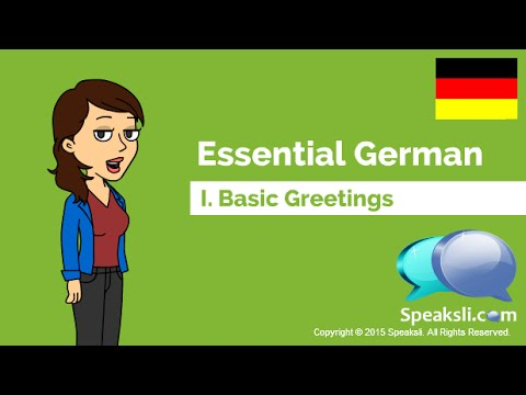 Basic german greetings learn german speaksli youtube m4hsunfo Image collections