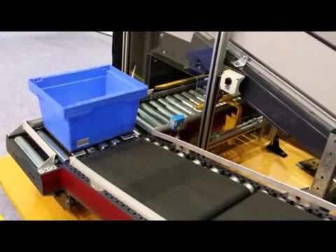 Tote Conveyor Belt Transfer Element By Logtron Doovi