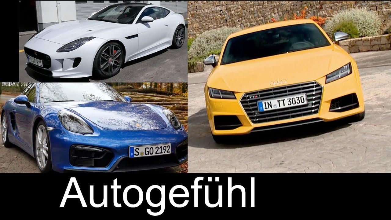 Best Sports Car Comparison Test Review Porsche Cayman Vs Jaguar F - Sports car comparison