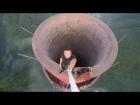 Climbing The Tallest Chimney In Europe  360m (1181 feet)  | 4K