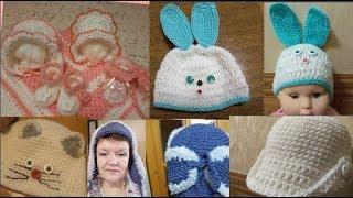 Шапка крючком Быстрые способы вязания детских и взрослых шапок