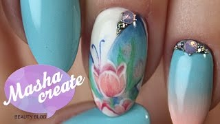 Рисунки на ногтях гель лаком: маникюр с бабочками и цветами) Весенний дизайн ногтей.