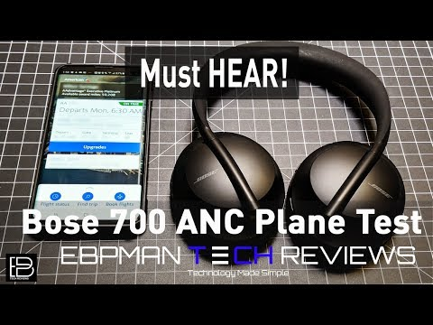 7490fdae7681 My First Flight with the Bose 700 Active Noise Cancelling Headphones | Real  ANC Cabin Test!
