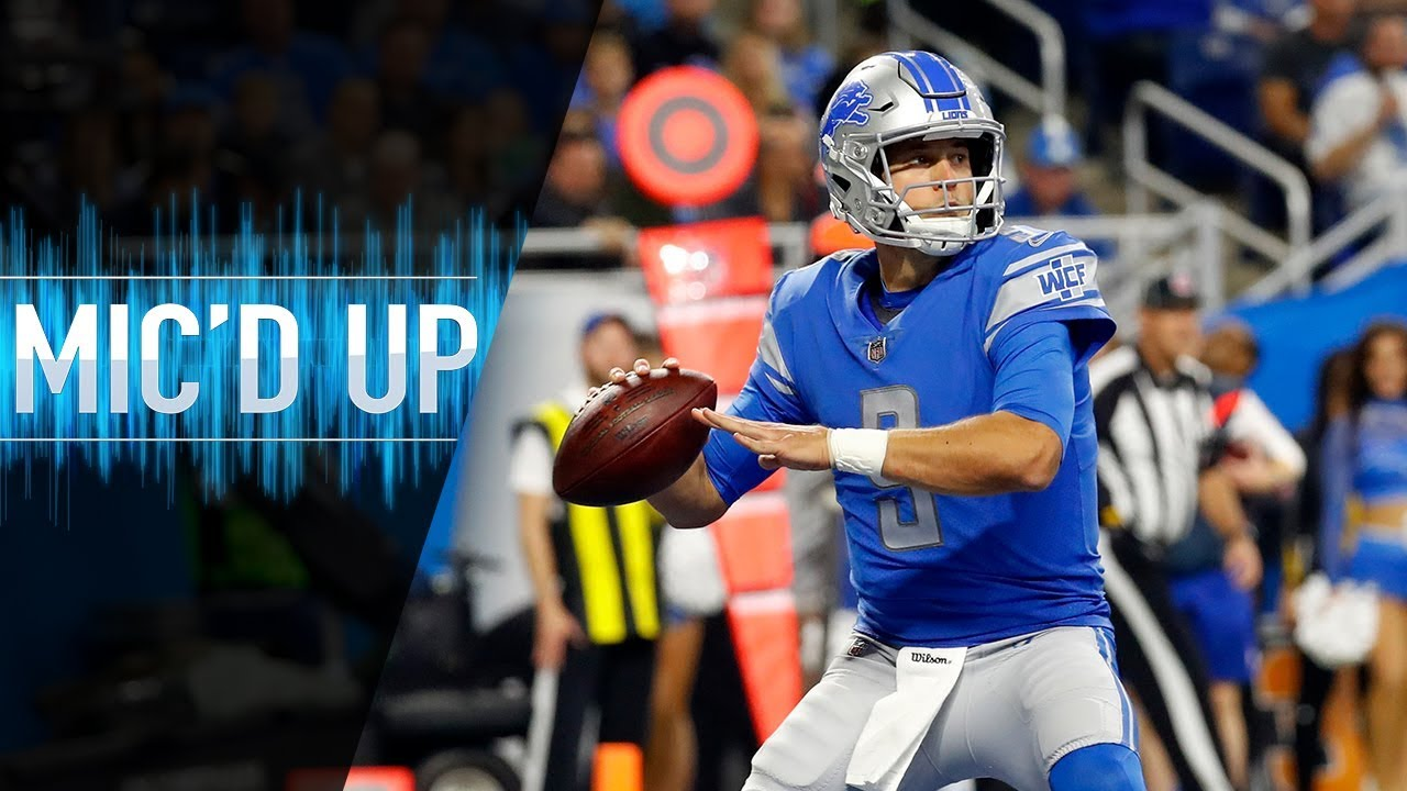 """Matthew Stafford Mic'd Up vs. Seahawks """"Keep executing on these dudes!"""" 