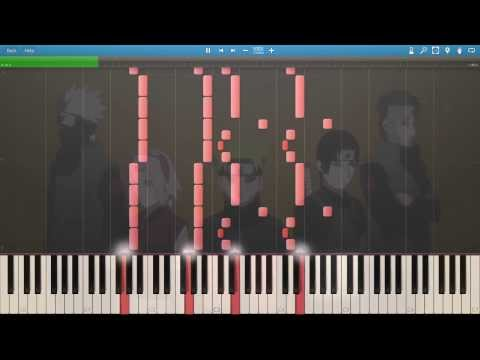 Naruto Shippuden  Opening 6 Sign HD  Synthesia Piano Tutorial