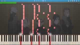 """Naruto Shippuden - Opening 6 """"Sign"""" HD - Synthesia Piano Tutorial"""