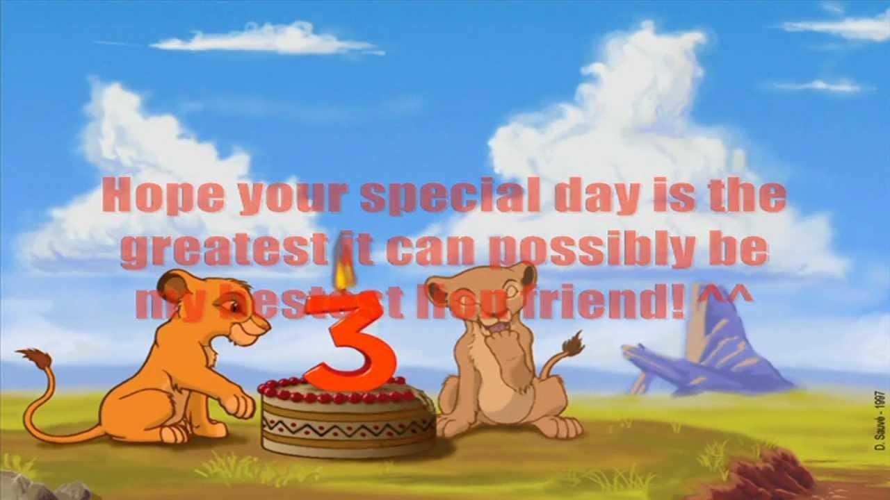 The Lion King Happy Birthday TeenSimba YouTube – Lion King Birthday Card