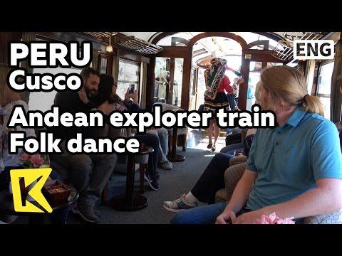 【K】Peru Travel-Cusco[페루 여행-쿠스코]기차 실내 민속 공연/Andean explorer/Train/Puno/Folk dance