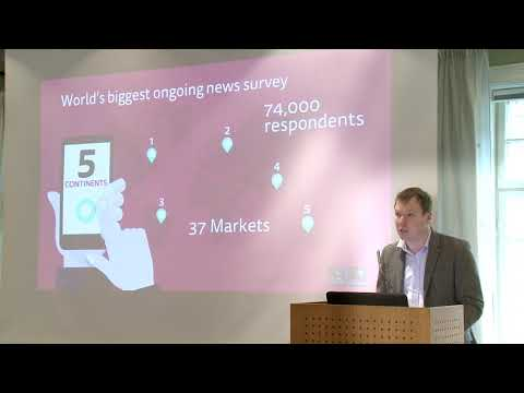 Oslo launch of Reuters' Digital News Report 2018, with Richard Fletcher