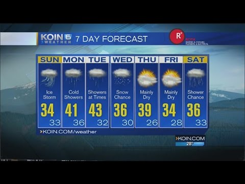 KOIN 6 11pm Weather Forecast Saturday January 7 2017