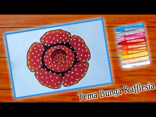 Cara Menggambar Bunga Bangkai Rafflesia Gradasi Warna Oil Pastel Youtube