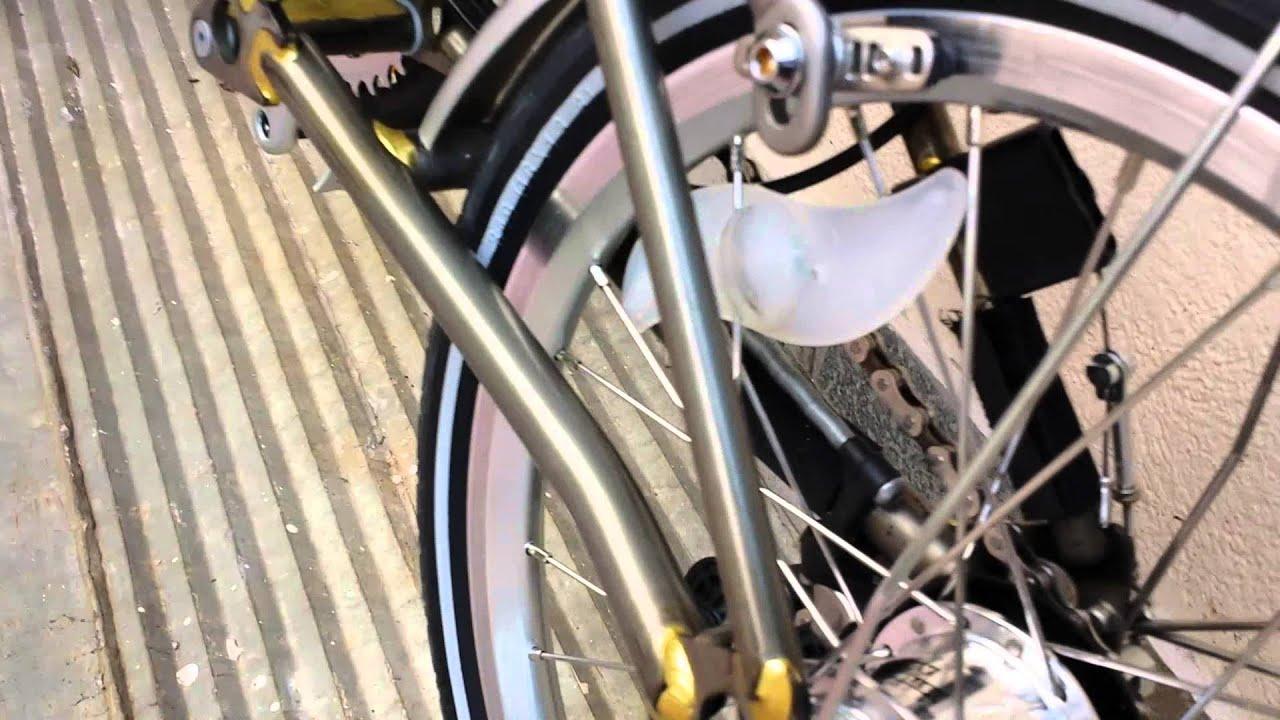 43c0e6a2f Brompton folding bicycle - YouTube
