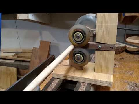 Simple DIY Lathe Steady Rest- Vintage Wood Workshop
