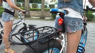 Фетбайки. Девушки тестируют велосипеды(Фетбайк (fat-bike) - велосипед с толстыми покрышками предназначенный для езды по рыхлым поверхностям. Группа..., 2015-11-05T15:01:54.000Z)