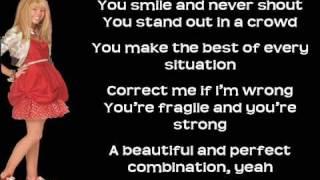 Hannah Montana- I wanna know you (solo version FULL HQ CD RIP) lyrics on screen