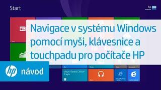 Navigace vsystému Windows pomocí myši, klávesnice atouchpadu pro počítače HP