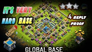 TH12 GLOBAL DEFENSE BASE - TH 12 Legend League Best Ever Defense Base 2019 With 4 Reply Proof Anti 2