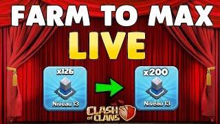 Clash of Clans - FARM TO MAX HDV12 - LIVE