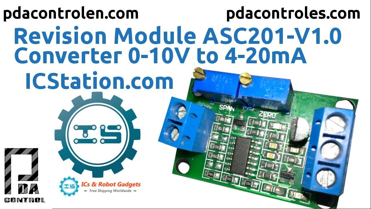 New Voltage To Current Module 0-10V Turn 4-20MA Conversion Sensor Module