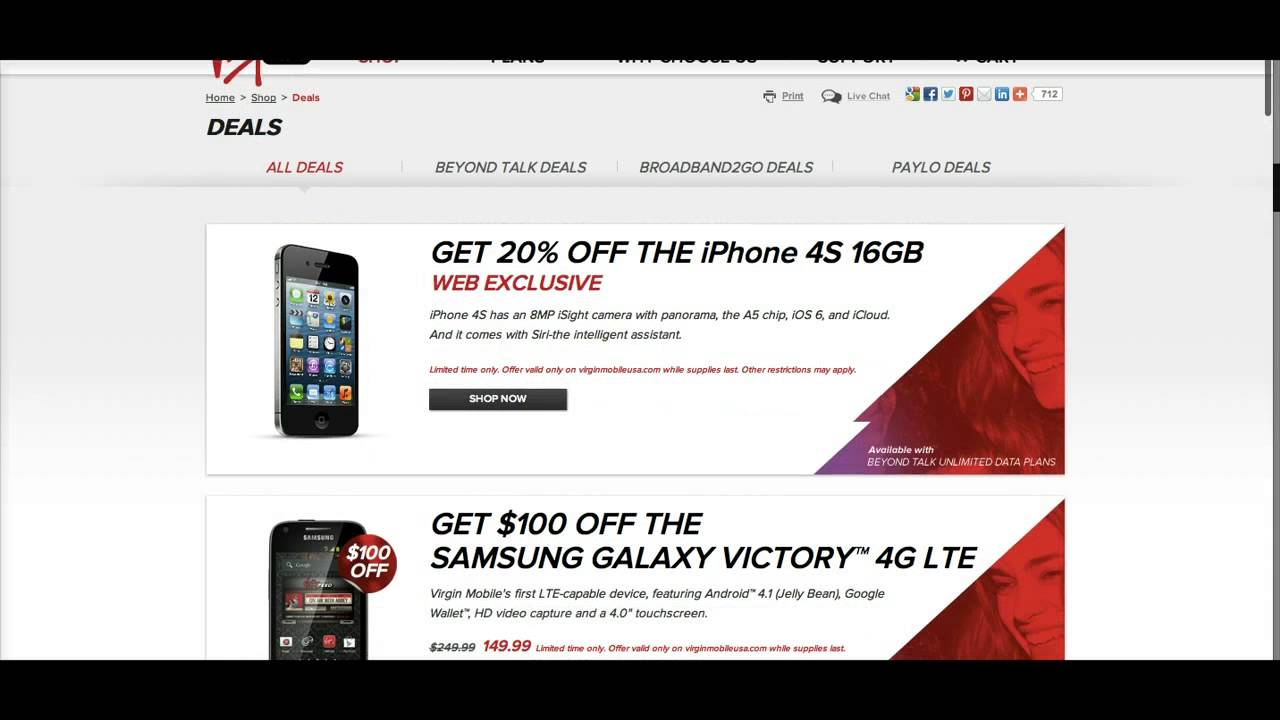 Virgin Mobile Promo Code- Save 20 - 40%