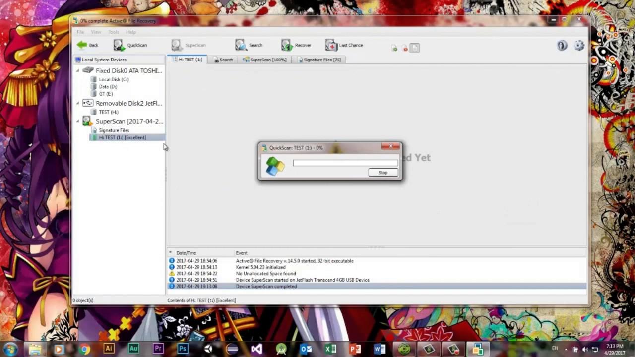 Khôi phục dữ liệu sau khi format bằng File Recovery