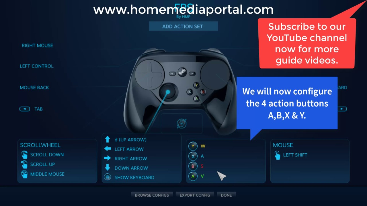 Steam Controller Configuration - Complete Setup Guide - Home Media