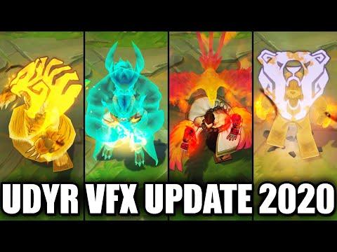 All Udyr Skins VFX Update 2020 (League of Legends)